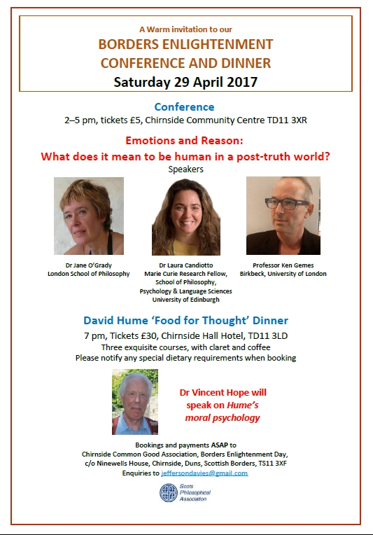 FLIER ENLIGHTENMENT CONFERENCE & DAVID HUME DINNER